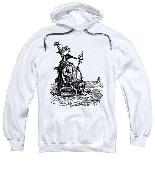 Empire Penguin Grandville Transparent Background Sweatshirt by Barbara St Jean