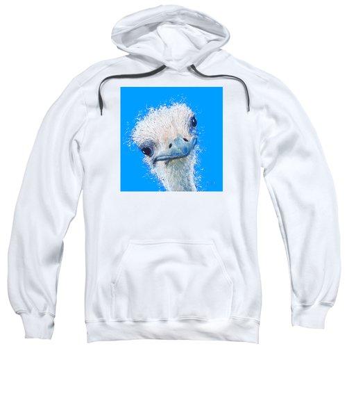 Emu Painting Sweatshirt by Jan Matson