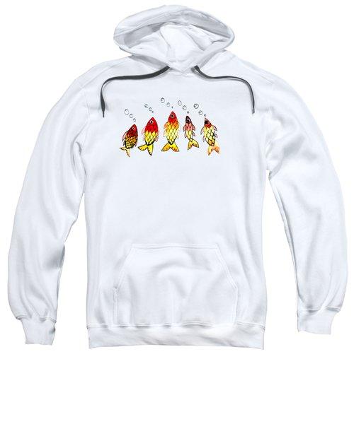 Five Bubble Fish Sweatshirt by Candace Ho