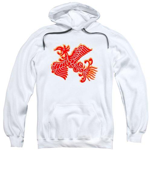 Flaming Red Phoenix Rising Sweatshirt by Nathan Beardsley