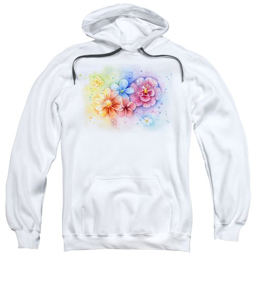 Flower Power Watercolor Sweatshirt by Olga Shvartsur