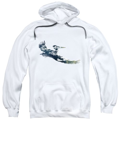 Flying Pelican Sweatshirt by Diana Van