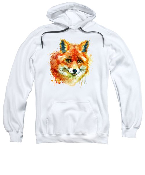 Fox Head Sweatshirt by Marian Voicu