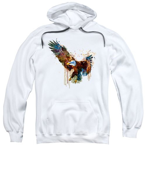 Free And Deadly Eagle Sweatshirt by Marian Voicu