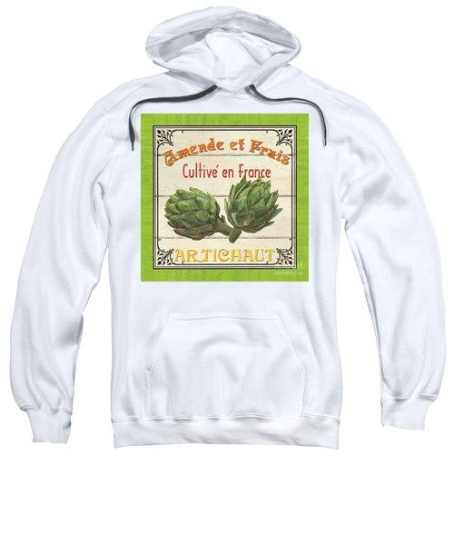French Vegetable Sign 2 Sweatshirt by Debbie DeWitt