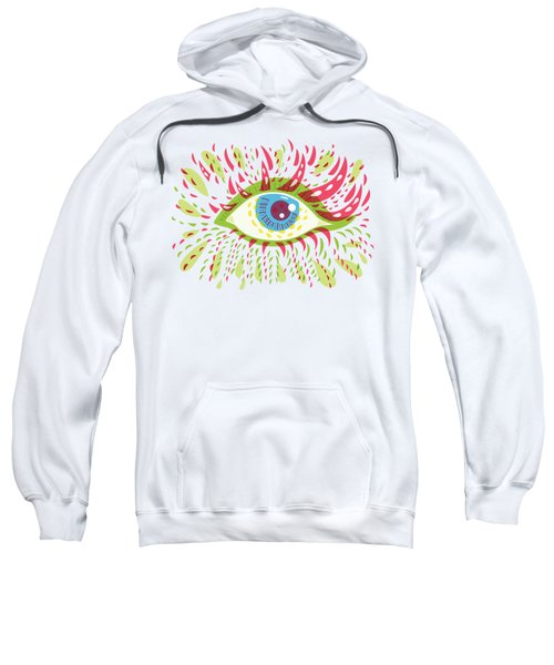 From Looking Psychedelic Eye Sweatshirt by Boriana Giormova