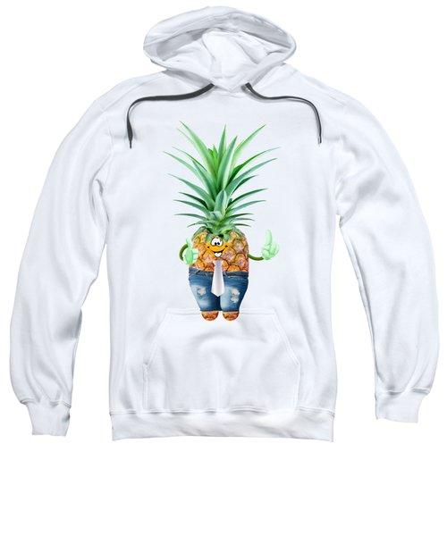 Fun Pineapple  Sweatshirt by Elena Nikolaeva
