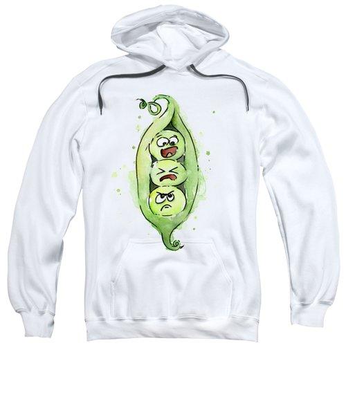 Funny Peas In A Pod Sweatshirt by Olga Shvartsur