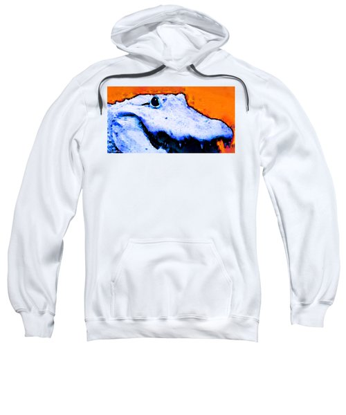 Gator Art - Swampy Sweatshirt by Sharon Cummings