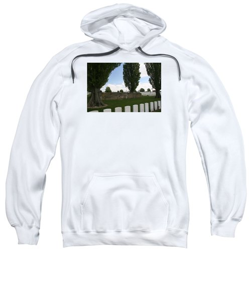 Sweatshirt featuring the photograph German Bunker At Tyne Cot Cemetery by Travel Pics