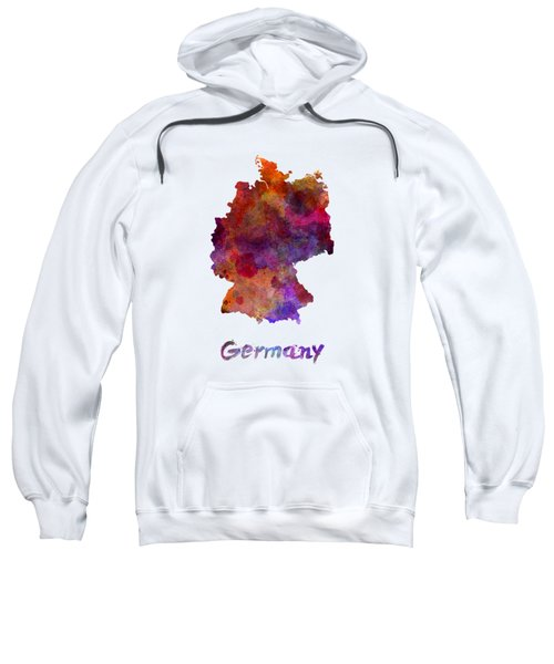 Germany In Watercolor Sweatshirt by Pablo Romero