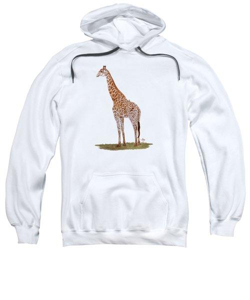 Giraffe Sweatshirt by Angeles M Pomata