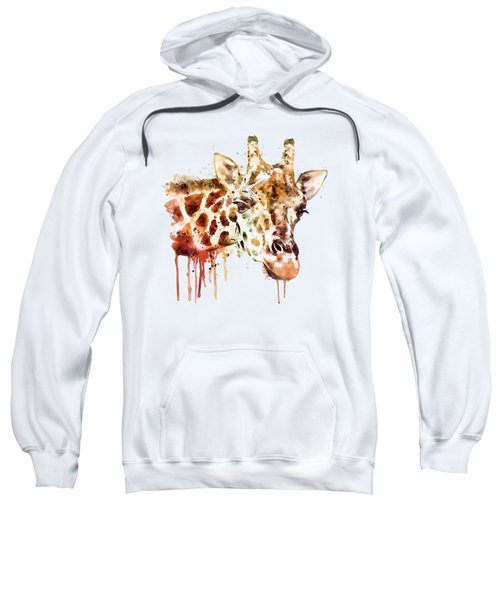 Giraffe Head Sweatshirt by Marian Voicu