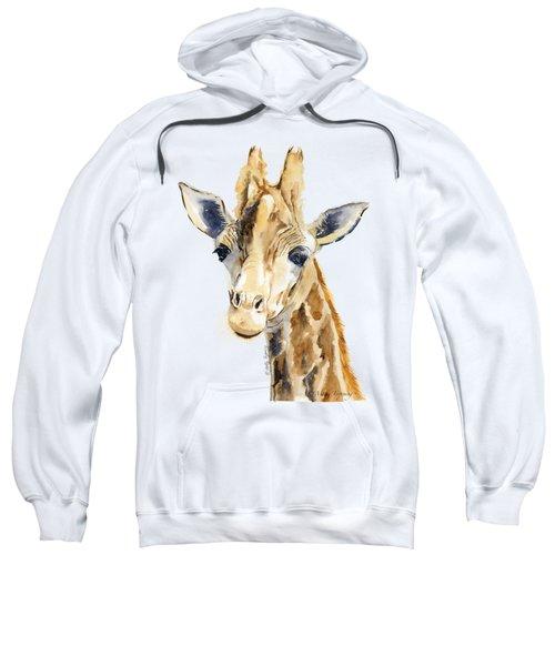 Giraffe Watercolor Sweatshirt by Melly Terpening