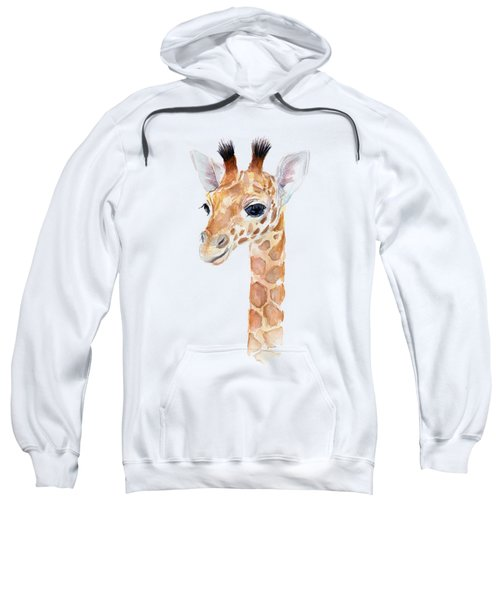 Giraffe Watercolor Sweatshirt by Olga Shvartsur