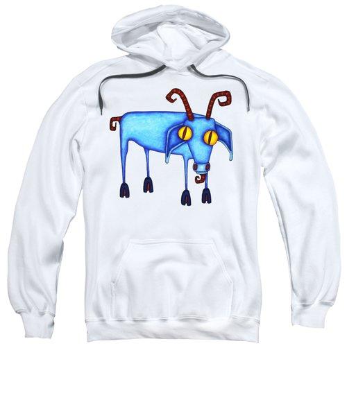 Goat Sweatshirt by Joan Krygsman