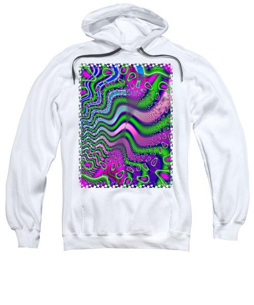 Goose Berries Psychedelic Fractal Sweatshirt by Sharon and Renee Lozen