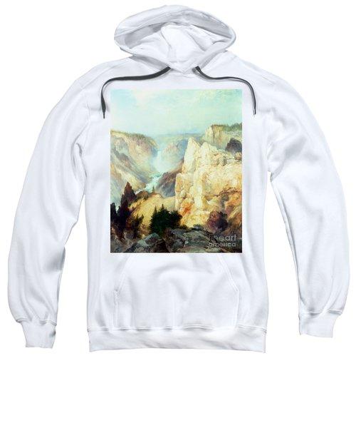 Grand Canyon Of The Yellowstone Park Sweatshirt by Thomas Moran