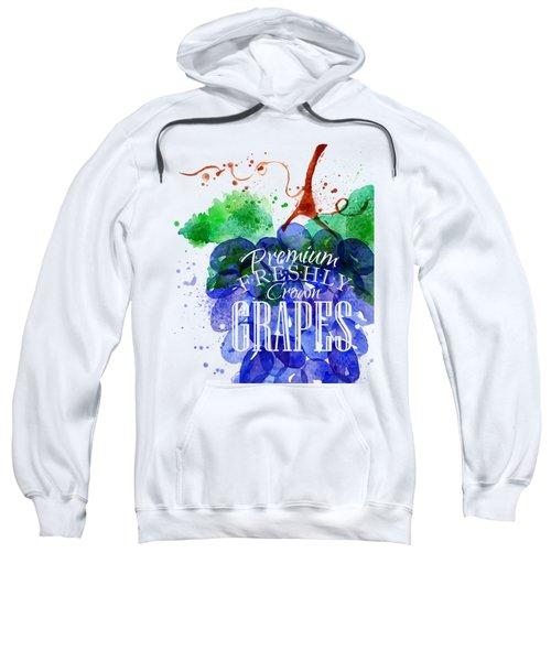 Grapes Sweatshirt by Aloke Design