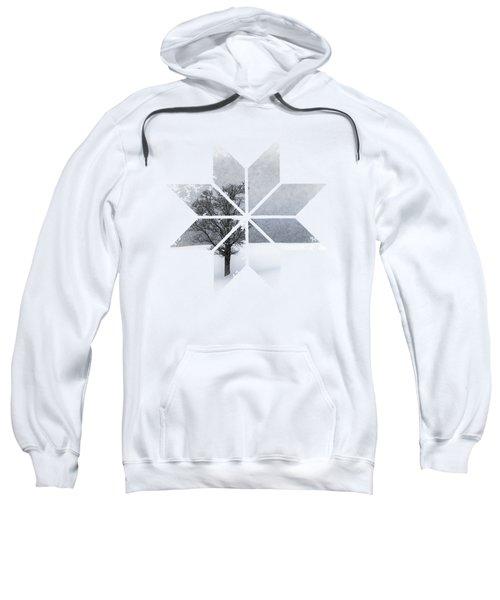 Graphic Art Snowflake Lonely Tree Sweatshirt by Melanie Viola
