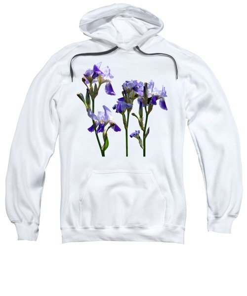 Group Of Purple Irises Sweatshirt by Susan Savad