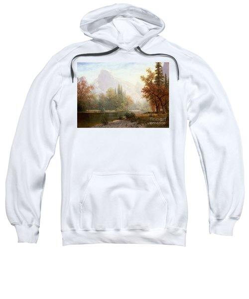 Half Dome Yosemite Sweatshirt by Albert Bierstadt