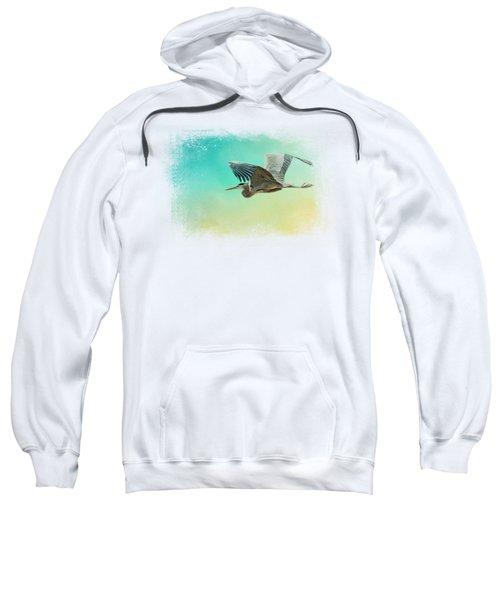 Heron At Sea Sweatshirt by Jai Johnson