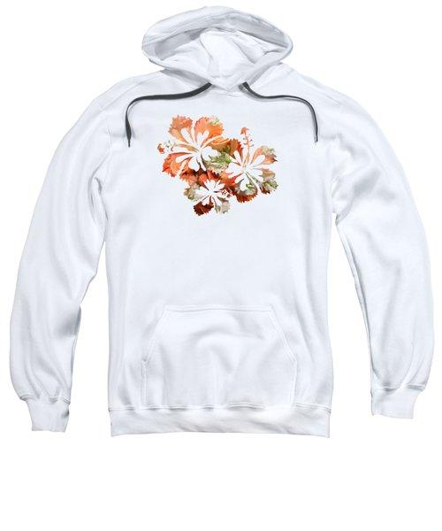 Hibiscus Flowers Sweatshirt by Art Spectrum
