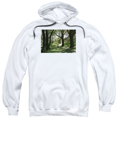 Sweatshirt featuring the photograph Hill 60 Cratered Landscape by Travel Pics