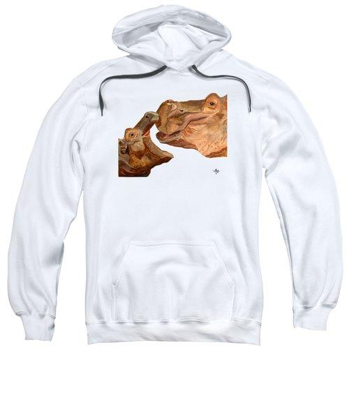 Hippos Sweatshirt by Angeles M Pomata
