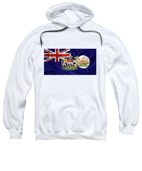 Hong Kong - 1959-1997 Historical Coat Of Arms Over British Hong Kong Flag  Sweatshirt by Serge Averbukh