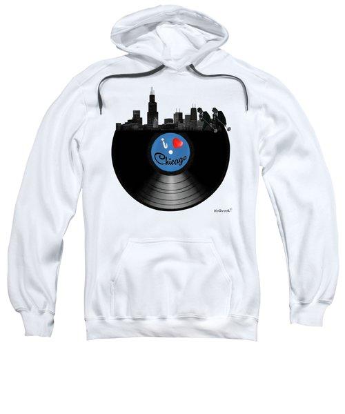 I Love Chicago Sweatshirt by Glenn Holbrook