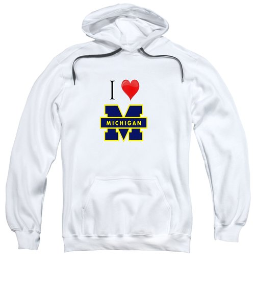 I Love Michigan Sweatshirt by Pat Cook