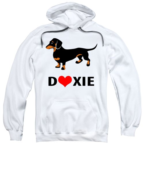 I Love My Doxie Sweatshirt by Antique Images