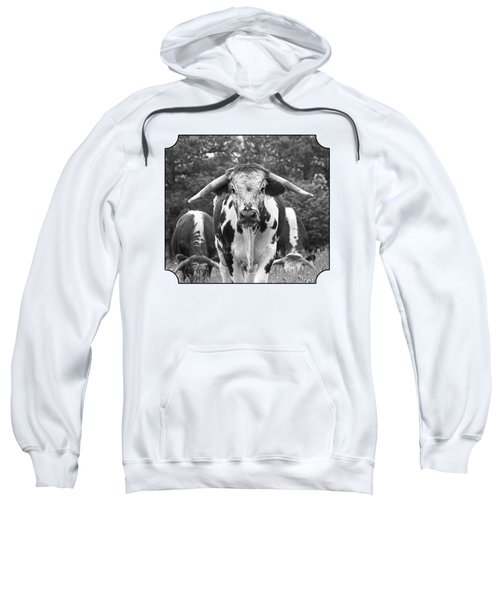 I'm In Charge Here - Black And White Sweatshirt by Gill Billington