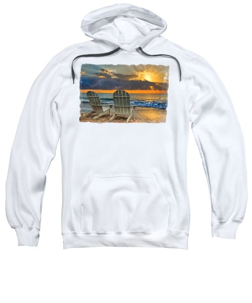 In The Spotlight Bordered Sweatshirt by Debra and Dave Vanderlaan