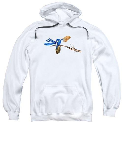 Inked Blue Fairy Wren Sweatshirt by Lorraine Kelly
