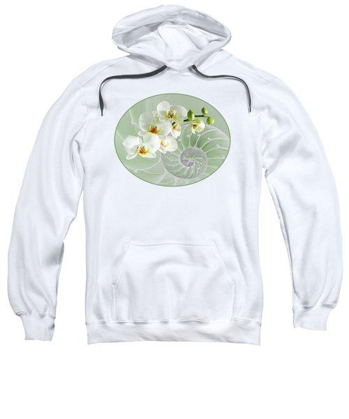 Intimate Fusion In Cool Green Sweatshirt by Gill Billington