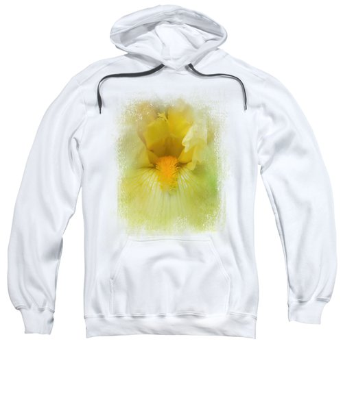 Iris In Lime Sweatshirt by Jai Johnson