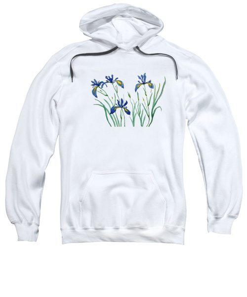 Iris In Japanese Style Sweatshirt by Color Color