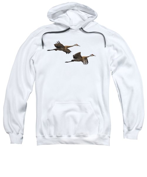 Isolated Sandhill Cranes 2016-1 Sweatshirt by Thomas Young