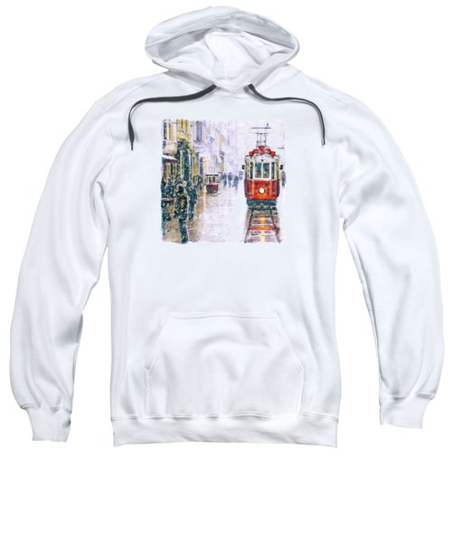 Istanbul Nostalgic Tramway Sweatshirt by Marian Voicu