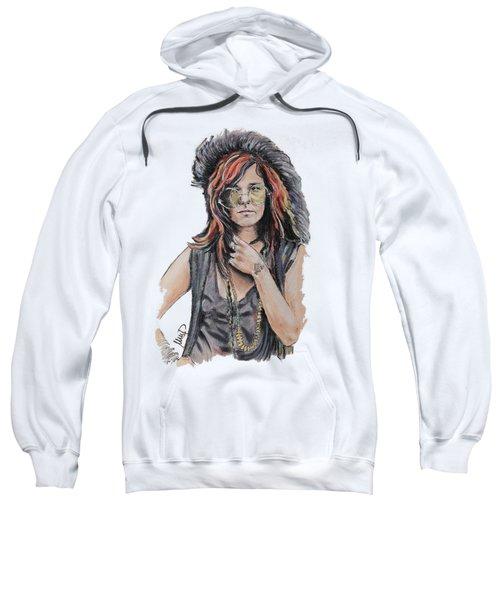 Janis Joplin Sweatshirt by Melanie D