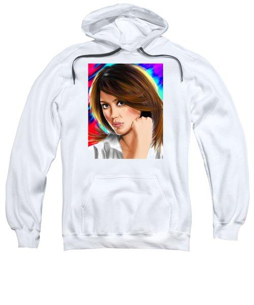 Jessica Alba Sweatshirt by Isaac Martinez