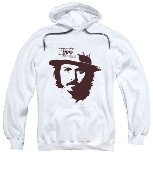 Johnny Depp Minimalist Poster Sweatshirt by Lab No 4 - The Quotography Department