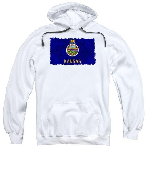 Kansas Flag Sweatshirt by World Art Prints And Designs