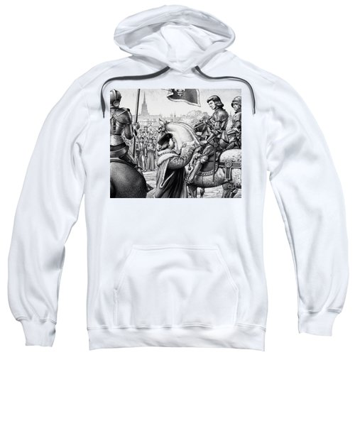 King Henry Vii Sweatshirt by Pat Nicolle