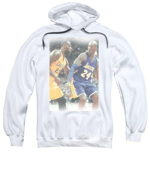 Kobe Bryant Lebron James 2 Sweatshirt by Joe Hamilton