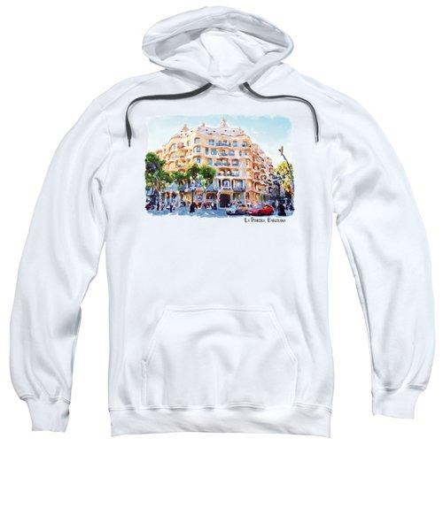 La Pedrera Barcelona Sweatshirt by Marian Voicu