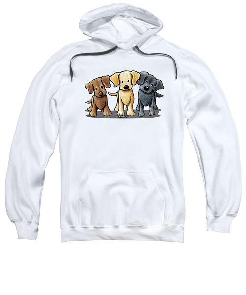 Labrador Beach Trio Sweatshirt by Kim Niles